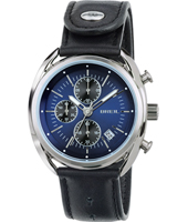 TW1528 Beaubourg 42mm Blauwe quartz chronograaf met datum