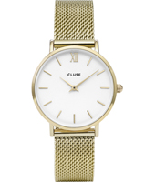CL30010 Minuit 33mm Goud dameshorloge met Milanese band