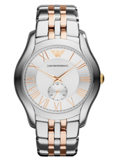 AR1824 Valente Large 43mm Bicolor Rosé Herenhorloge met Kleine Seconde