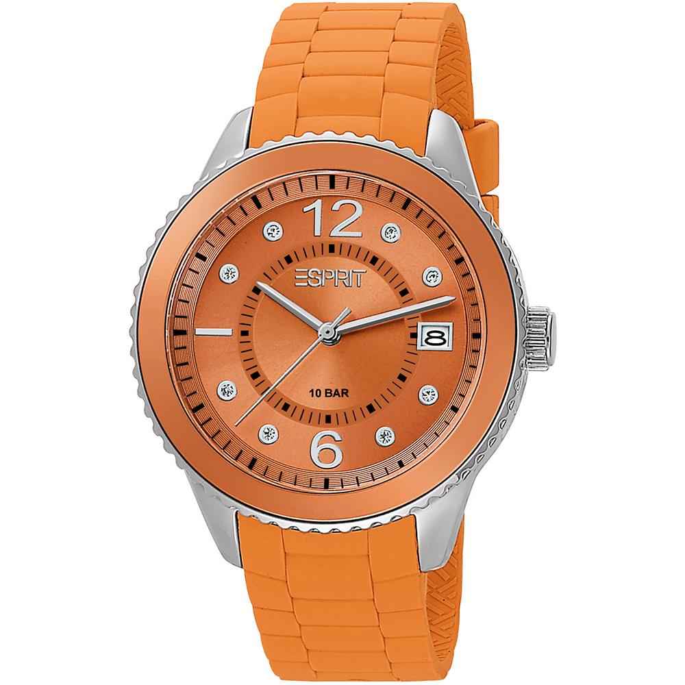 esprit es105342005 dames horloge marin 68 orange. Black Bedroom Furniture Sets. Home Design Ideas