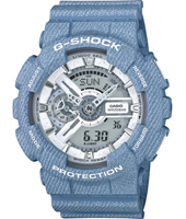 GA-110DC-2A7ER Denim'D Color 51.20mm Groot blauw ana-digi G-Shock horloge