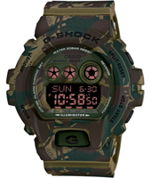 GD-X6900MC-3ER Military Cloth 53.90mm Camouflage digitaal G-Shock horloge