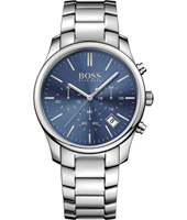 1513434 Time One 42mm Staal & Blauwe Chronograaf met Datum