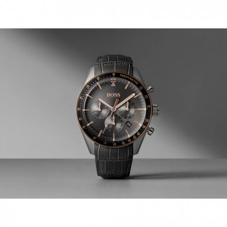 Grijze chronograaf met tachymeter en datum Herfst / Winter Collectie Hugo BOSS