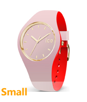 007234 Ice-Loulou 34mm Roze-goud siliconen horloge