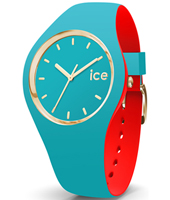 007242 Ice-Loulou 41mm Turquoise-goud siliconen horloge