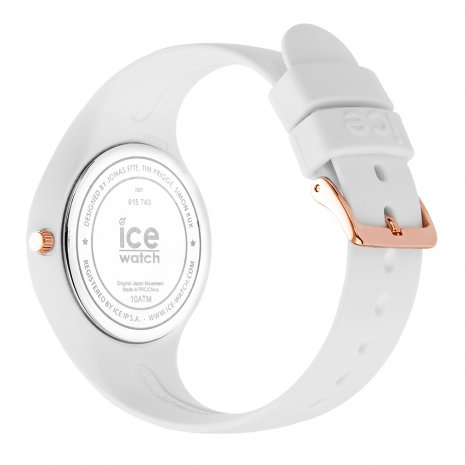 Roségoud-wit siliconen horloge, maat Small Lente / Zomer collectie Ice-Watch