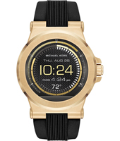 MKT5009 Dylan Access 48mm Touchscreen gold with black silicone strap