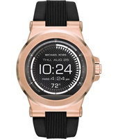 MKT5010 Dylan Access 48mm Touchscreen rose gold with black silicone strap