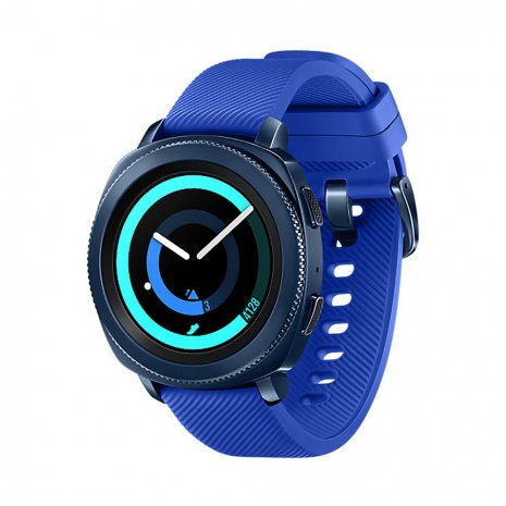 Blauwe touchscreen smartwatch met extra siliconen band Lente / Zomer collectie Samsung