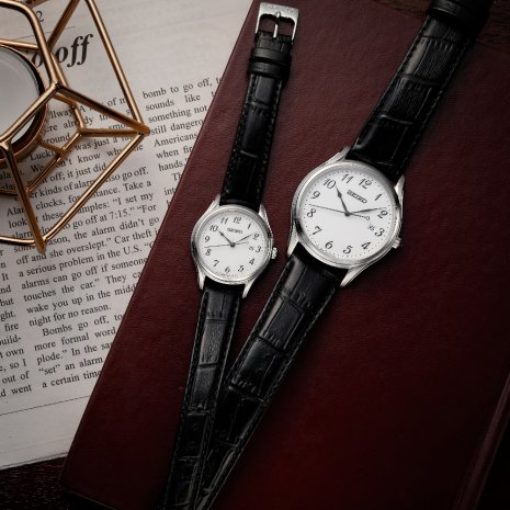 Klassiek herenhorloge met datum Herfst / Winter Collectie Seiko