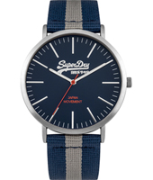 SYG183UE Oxford 38.50mm Heren quartzhorloge met textielen band