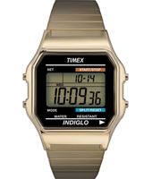 T78677 Digital  35mm Retro Goud Digitaal Horloge